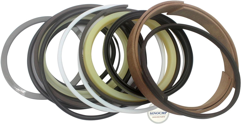 SINOCMP Repair Seal Kits for Komatsu PC60-5 Excavator Parts PC60-5 Bucket Hydraulic Cylinder Repair Seal Kit 3 Month Warranty
