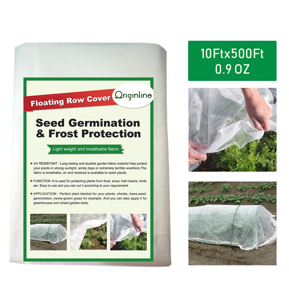 Originline Floating Row Cover & Frost Blanket for Garden, 0.9 oz/sq.yd, 10x500ft
