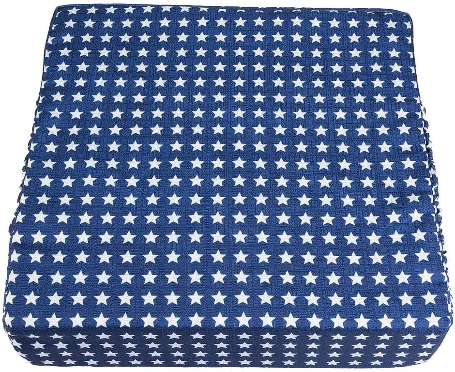 Blue Stars Mumusuki Adjustable Removable Baby Dining Chair Booster Cushion Kids Highchair Seat Pad