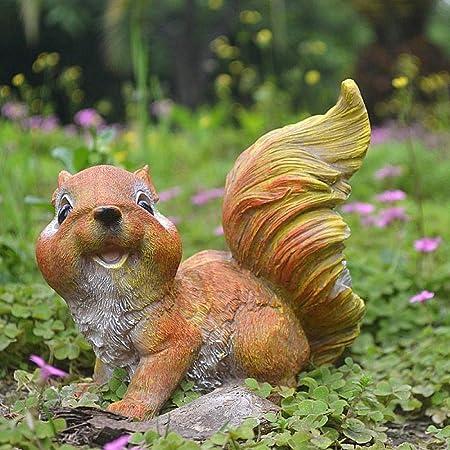 zenggp Pequeñas Ardillas De Resina Adornos De Jardín Gnomos Estatuas Regalos Decoración para El Hogar Exhibiciones,A: Amazon.es: Hogar