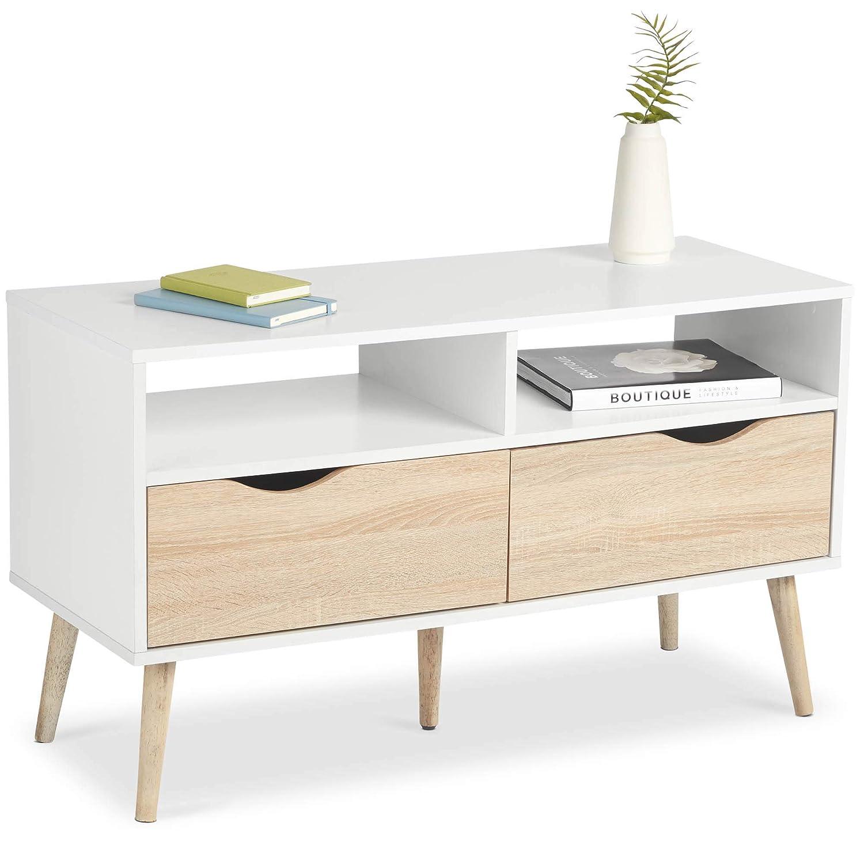 VonHaus - Mueble de TV estilo nórdico escandinavo, efecto ...