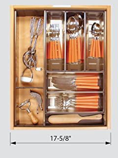 "product image for Blum Orgaline For Wood Drawers With Lengths 19 1/4"" To 20"" Cutlery Kit 15 3/4"" To 16 1/2"" W Stainless Steel"