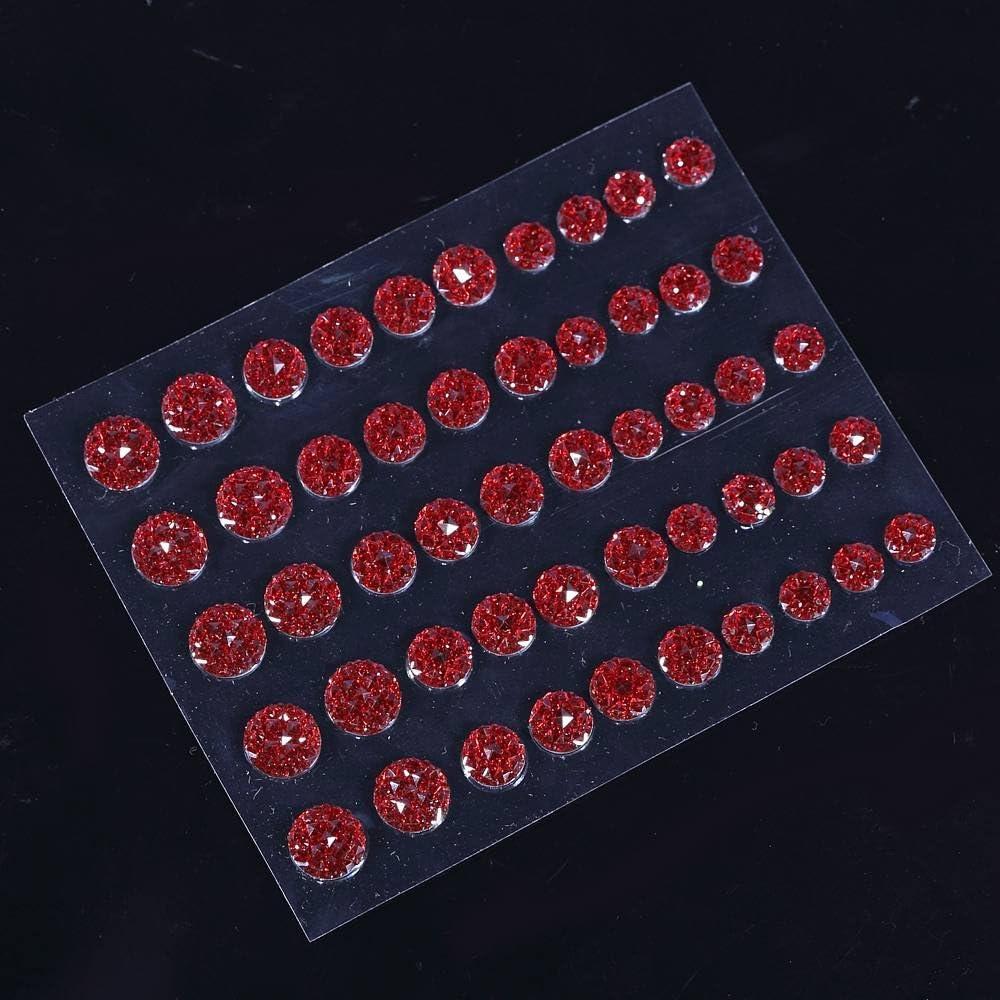 50 Self Adhesive RED Crystal Diamante Rhinestone Stick on Moon Rock Gems CraftbuddyUS CB70R