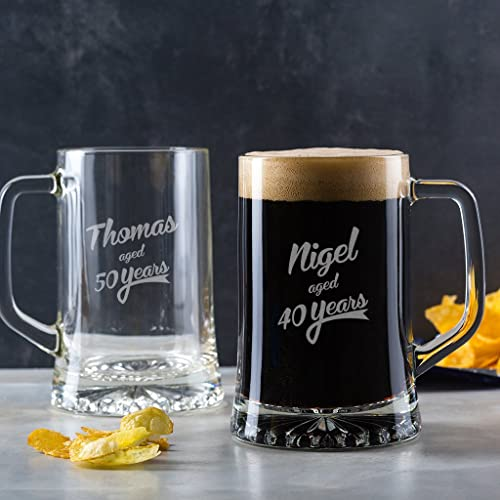 Personalized Beer Tankard Birthday Gifts For Men Unique Him