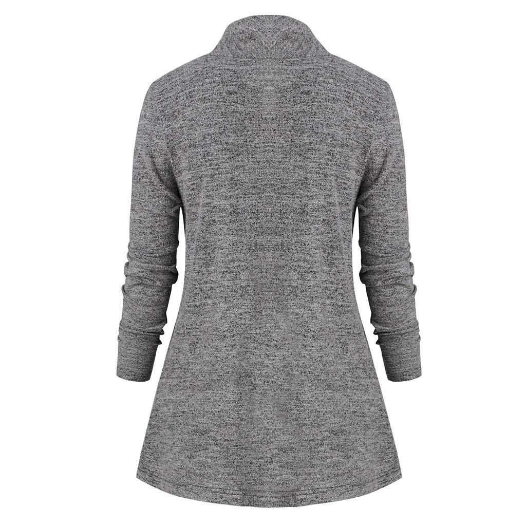 EDC Womens Cowl Neck Tunic Top Casual Loose Baggy Long Sleeve Pullover Sweatshirt Blouse Shirts Tops Tracksuit Sportswear