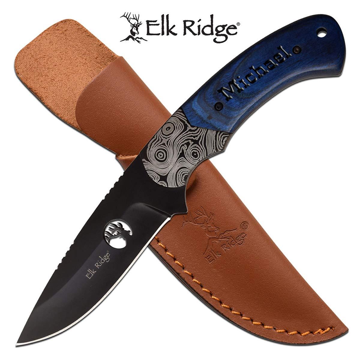Elk Ridge Personalized ER-200-09BL Fixed Blade Knife (ER-200-09BL)