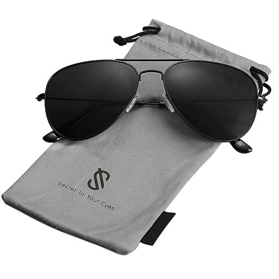 precio limitado amplia selección de colores y diseños cupón de descuento SojoS Gafas De Sol Para Hombres Y Mujeres Aviador Clásico Marco Metal  Lentes Espejo Polarizadas SJ1054