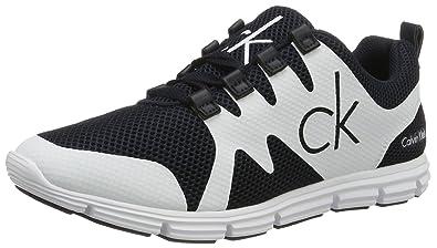 064473df721de5 Calvin Klein Jeans Murphy Mesh/Rubber Spread, Sneakers Basses Homme, Blanc  (Nwh