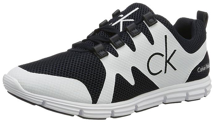 Calvin Klein Jeans Murphy Mesh/Rubber Spread, Zapatillas para Hombre, Blanco (Navy/White), 44 EU