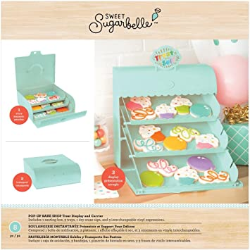 Sweet Sugarbelle 8 Piece Pop-up Bake Shop Display Mint Cookie Supplies