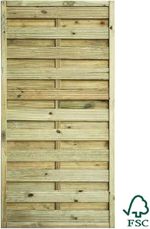 ITALFROM Panel ocultación Recto con Rejilla de Madera de Pino Silvestre 90 X 180h: Amazon.es: Jardín