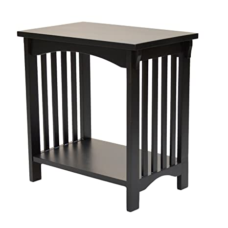 Carolina Chair And Table Grayson Mission Accent Table, Antique Black