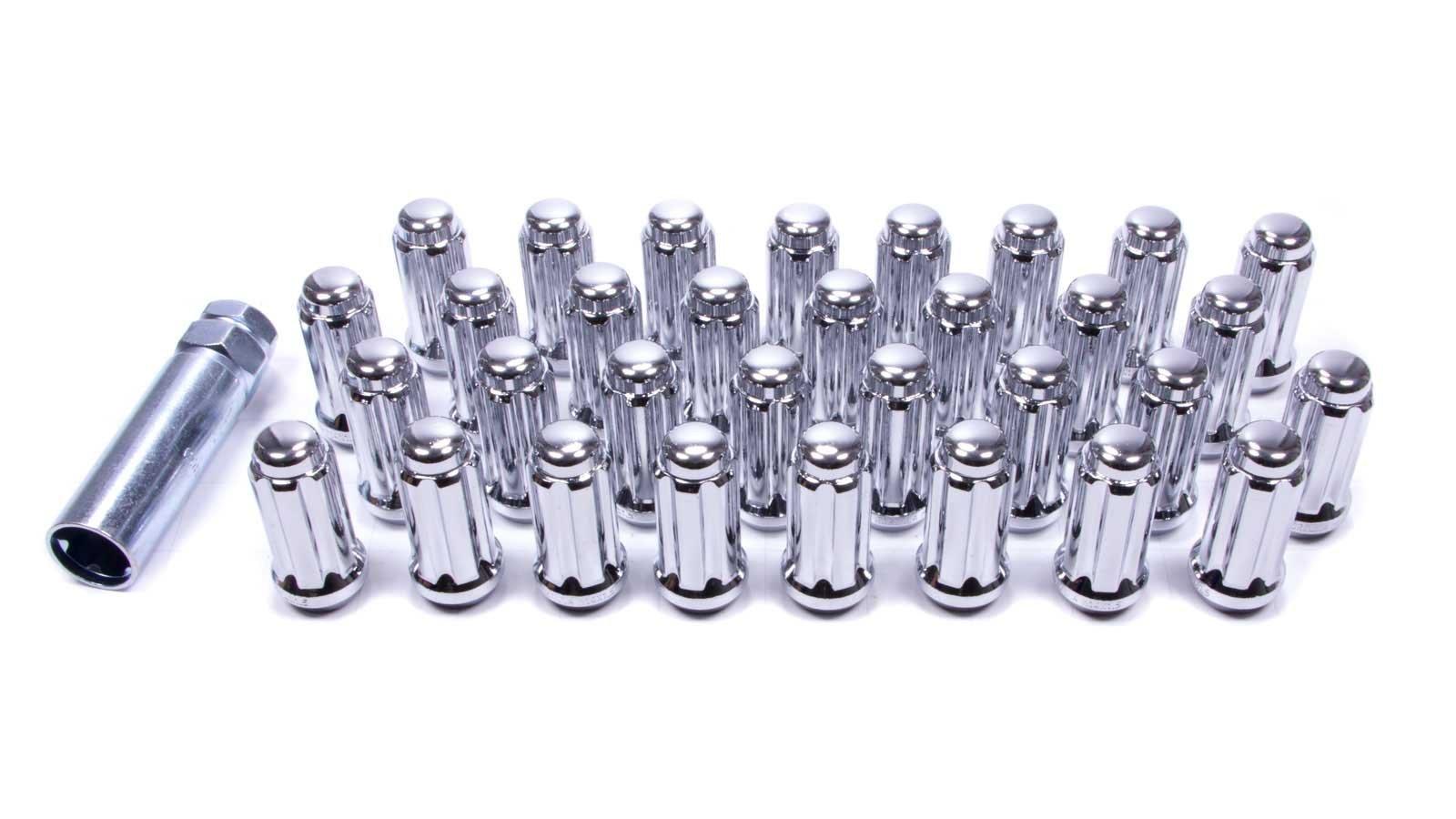 Gorilla Automotive 26145HT Small Diameter Duplex Acorn Chrome 8 Lug Kit (14mm x 1.50 Thread Size) - Pack of 32
