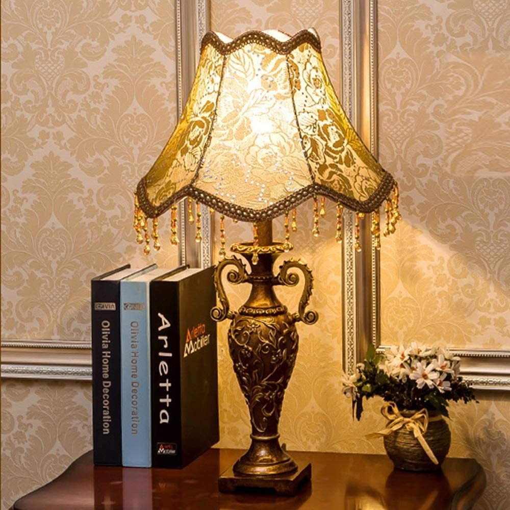 XXYHYQHJD Table Lamps European Retro Table Lamp Bedroom