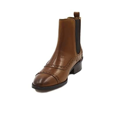 Massimo Dutti Botas de Piel Para Mujer Marrón Marrón Oscuro Marrón Size: 40 EU: Amazon.es: Zapatos y complementos
