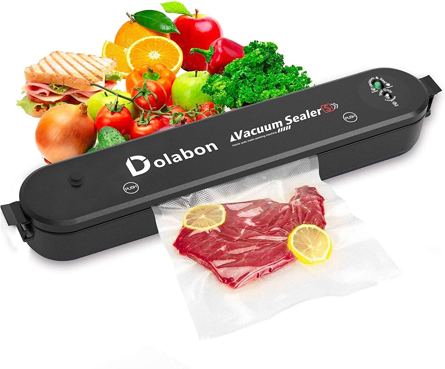 Vacuum Sealer Machine, Automatic Food Sealer System with 30 Sealing Bags Food Vacuum Air Sealing System for Food Preservation Storage Saver