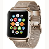 Apple Watch band 38mm,AGUARA Apple Watch Accessories Milanese Loop Stainless Steel Replacement iWatch Band Classic Buckle for Apple Watch Series 2,Series 1,Sport,Edition
