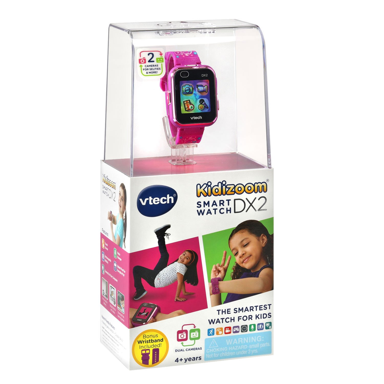 VTech Kidizoom Smartwatch DX2 Special Edition Floral Birds with Bonus Vivid Violet Wristband by VTech (Image #7)
