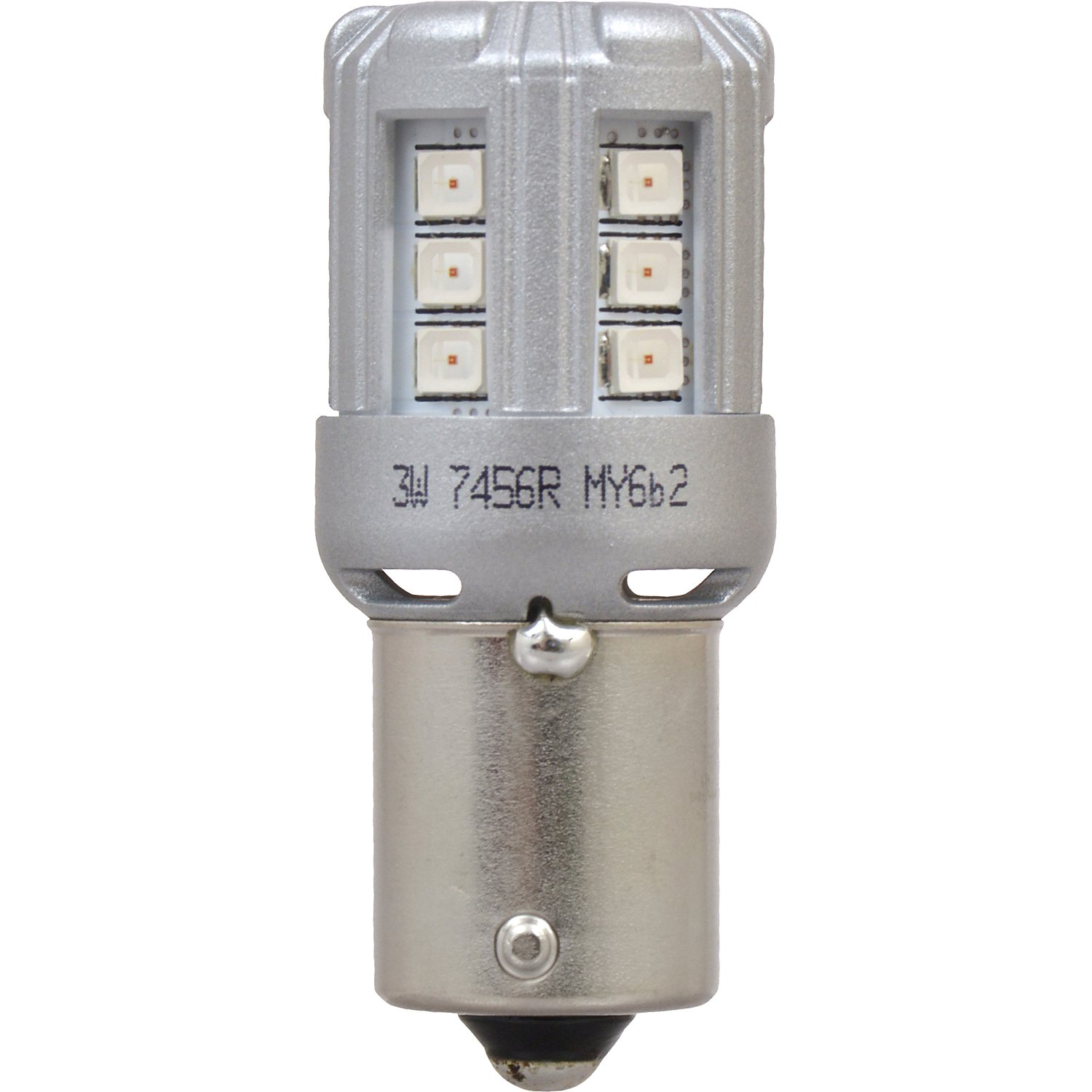 Ideal for Park and Turn Lights 1156 LED Amber Mini Bulb Contains 2 Bulbs Bright LED Bulb SYLVANIA