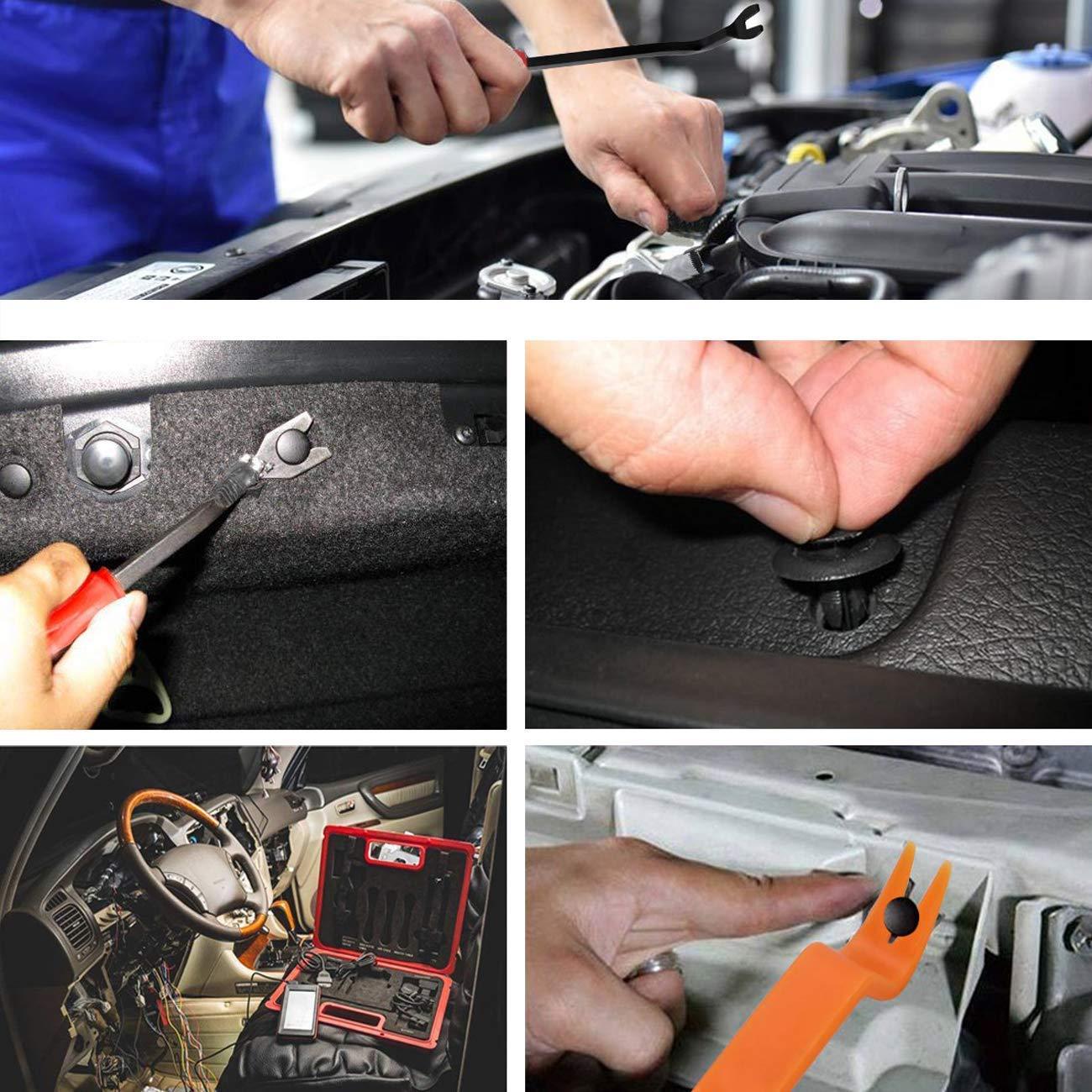 Auto-Push-Pin-Nietensatz 18 verschiedene Gr/ö/ßen Sortiment an Sto/ßstangent/ürverkleidungsklammern Slubee 446-tlg Kfz-Halteklammern und Kunststoffbefestigungss/ätze