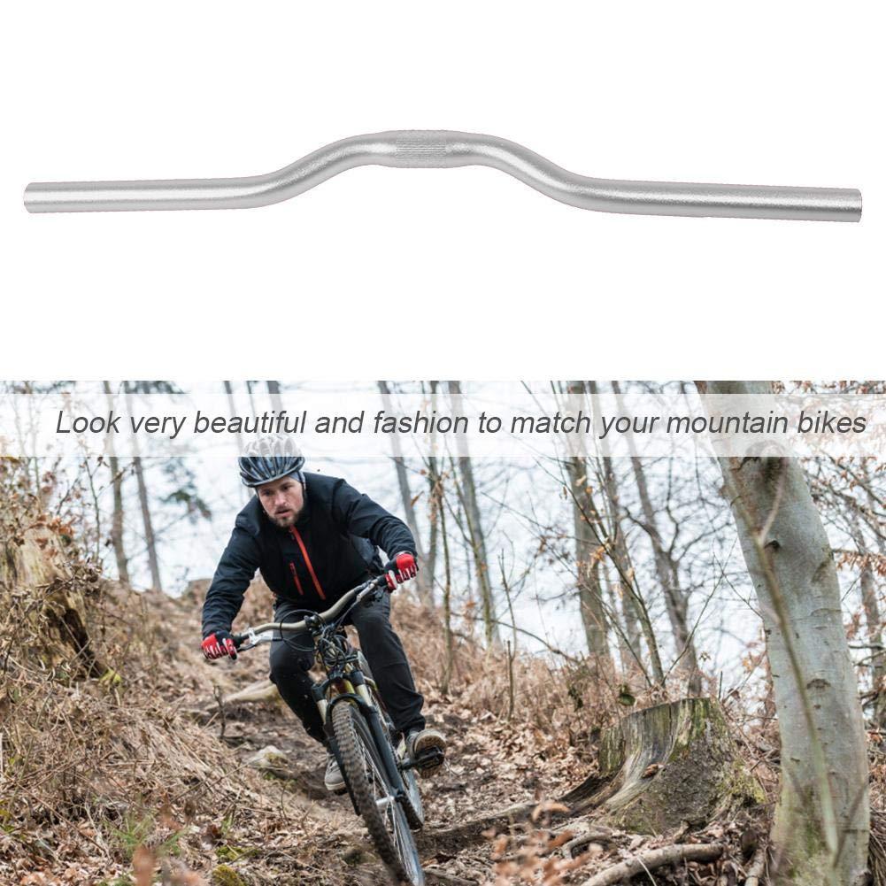Tbest Manillar de Bicicleta Barra elevadora de Bicicleta de Carretera de monta/ña de Aluminio Manillar Extra Largo Adecuado para Barra elevadora de 520 mm de 25,4 mm