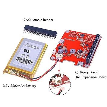 42c6392996c MakerHawk Raspberry Pi Erweiterungskarte DIY Power Pack mit Lithium-Batterie  Kit Pro Update