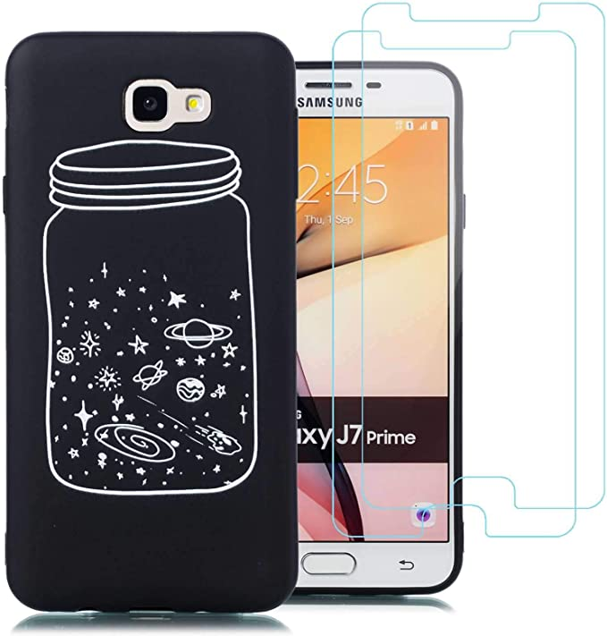 jrester Funda Samsung Galaxy J7 Prime,Botella Flexible Suave ...