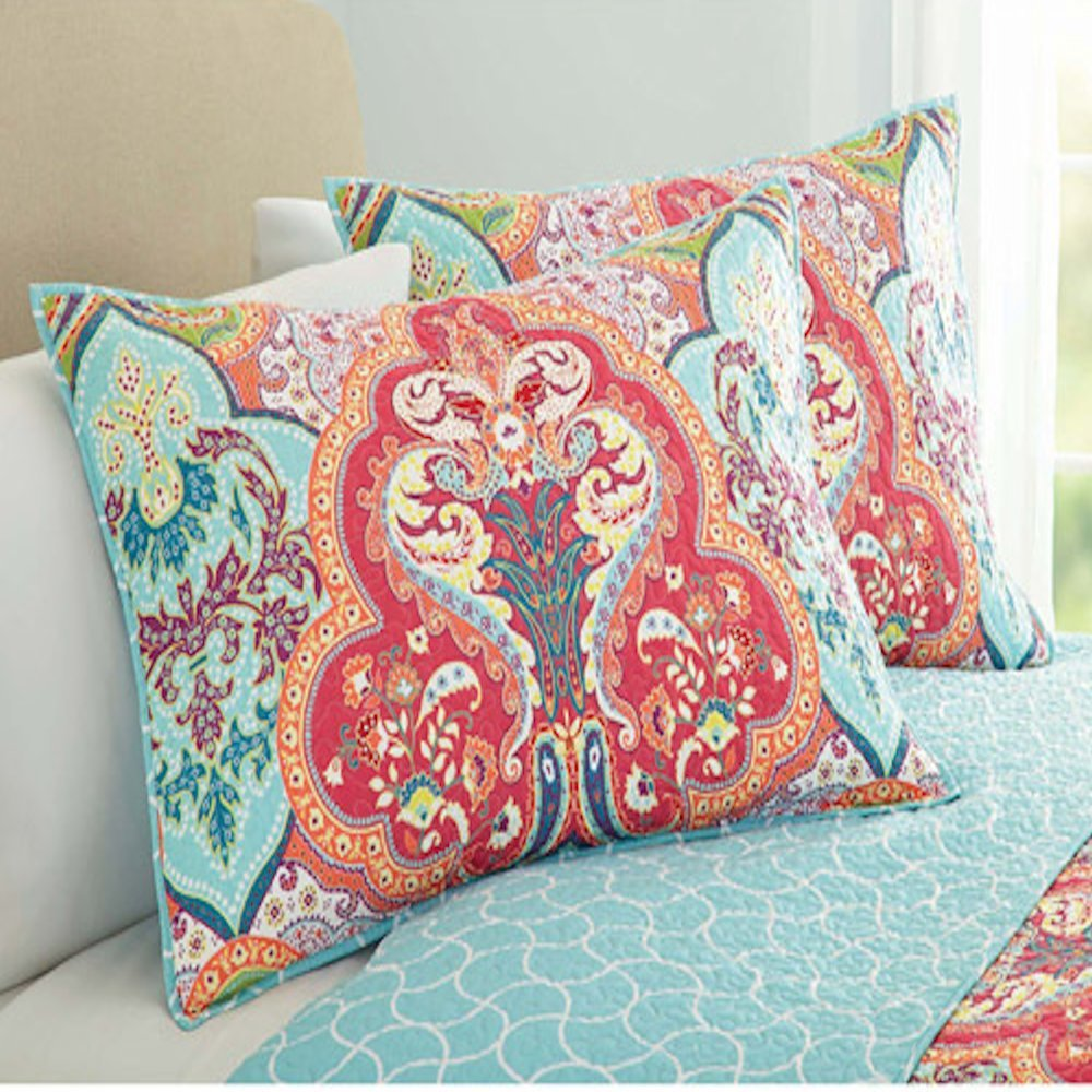 garden better damask prescott comforter coastal piece tradewinds gold holding homes jeweled collection sets suzani bedroom blue gardens and gorgeous shells quiltsham quilt site customer set bedding