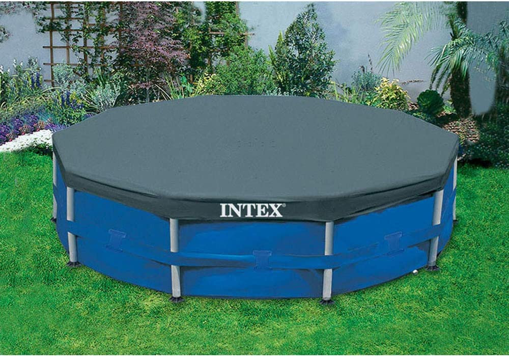 Intex 10ft Round Swimming Pool Cover /& Easy Set 10ft x 30in Inflatable Pool