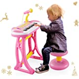 Reditmo 31 Keys Kids Piano Keyboard, Educational Toy Electronic Organ, with Microphone and Firmer Stool, for 18M+ 2-6…