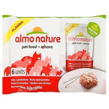 Almo nature HFC Pollo y gamberetti húmedo Gato - 6 Sobres: Amazon.es: Productos para mascotas