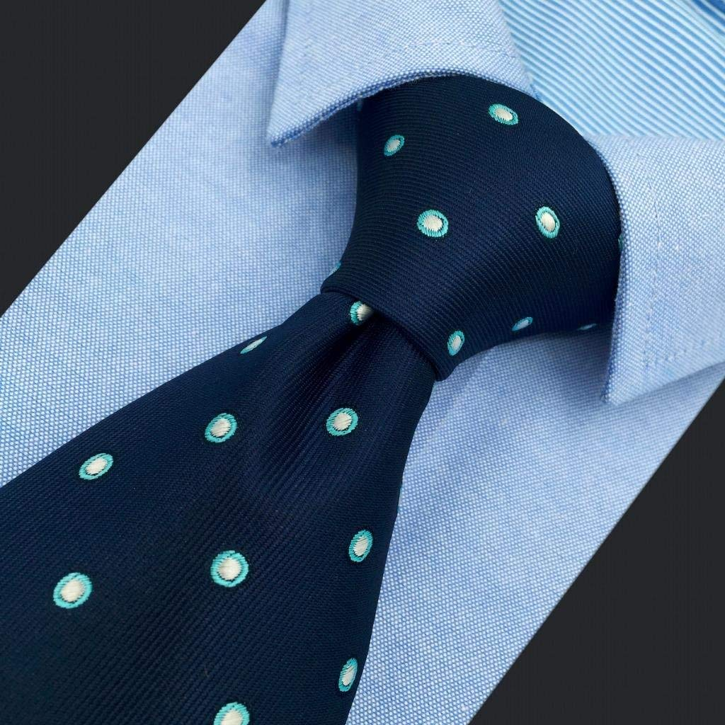SHLAX/&WING Classic Ties Set For Men Blue Dots Neckties Business Suits