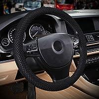 RUNGAO Housse élastique universelle et robuste pour volant de voiture Noir