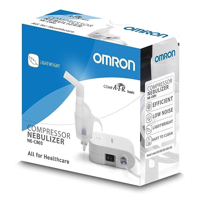 OMRON NE-C803-E Inhalador Compacto, Portátil, Eficaz y Silencioso, Enchufe EU: Amazon.es: Salud y cuidado personal