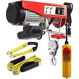 Partsam 1320 lbs Lift Electric Hoist Crane Remote Control Power System, Zinc-Plated Steel Wire Overhead Crane Garage…