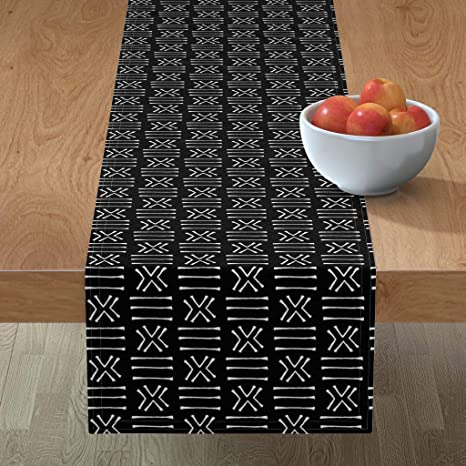 African Mud Cloth Table Runner Blush/_mudcloth by holli/_zollinger Tribal  Bohemian Nursery Rust Cotton Sateen Table Runner by Spoonflower