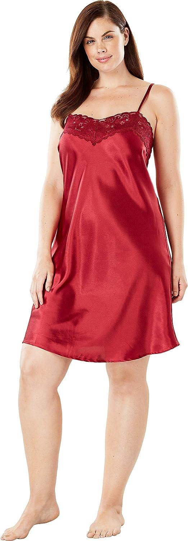 Amoureuse Womens Plus Size The Luxe Satin Short Peignoir Set