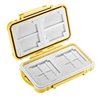Neewer 14 Slots Memory Card Case Holder, Durable Waterproof Anti-shock Storage Protector Card Box for 10 Micro SD Cards/10 TF Cards/2 CF Cards and 4 SD Cards/4 XD Cards/2 CF Cards (Yellow)