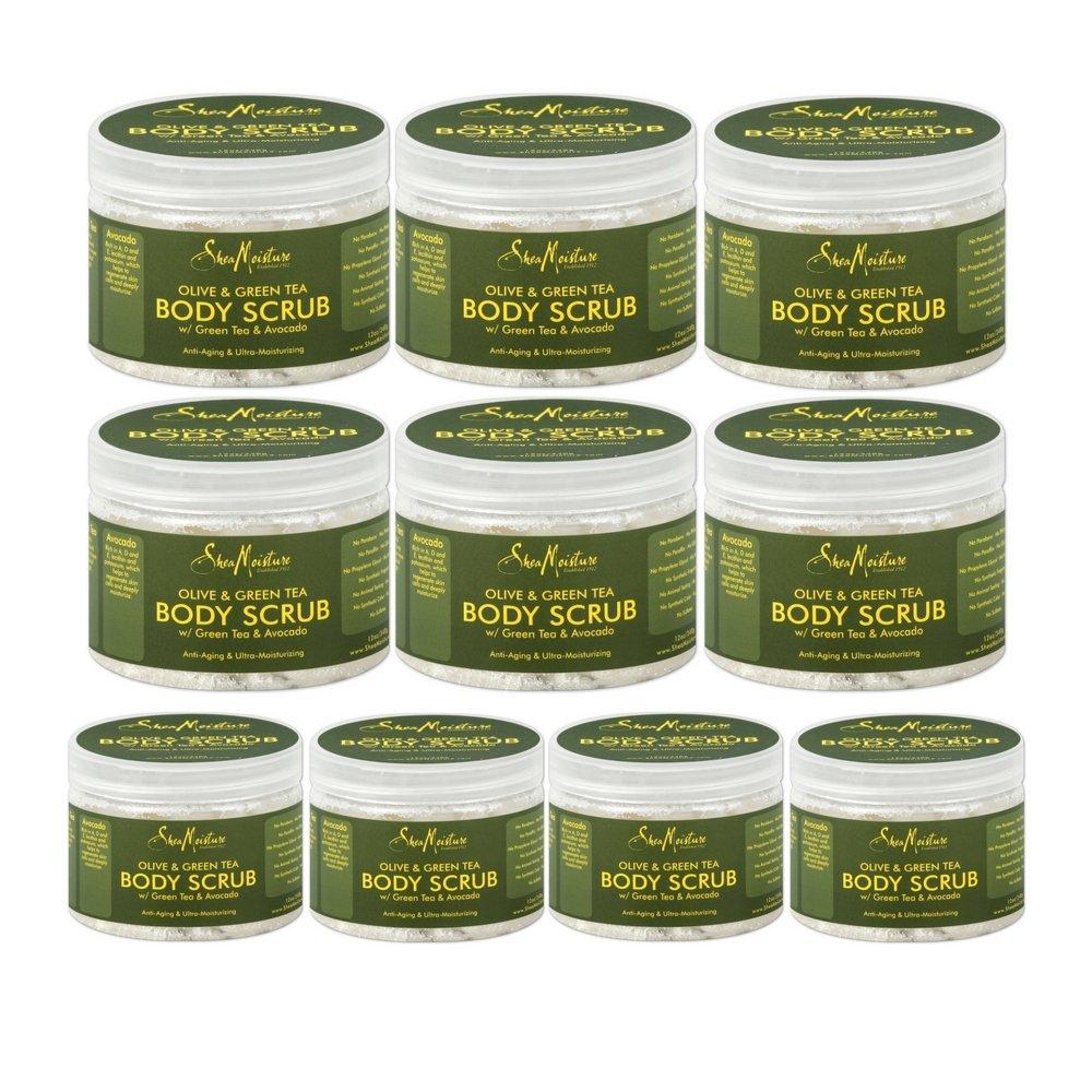 SheaMoisture Olive & Green Tea Hand/Body Scrub, 12 Ounce (10 pack)