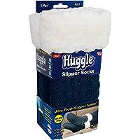 Ontel Huggle Slipper Socks, Navy, One Size