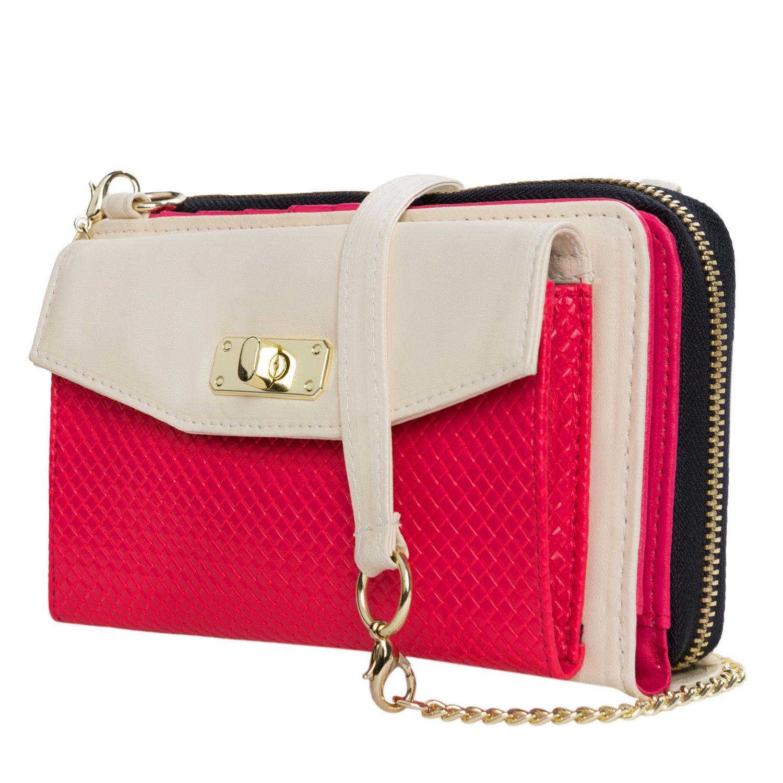 cd946194bb7 Shoulder Clutch Bag Cream/Pink for Vivo Phones: Handbags: Amazon.com