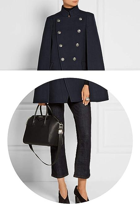 Amazon.com: Fall/Winter Newest Designer Women Oversized Wool Poncho Navy Cape Coat Cloak Manteau Femme Abrigos Mujer: Clothing