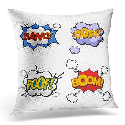 Amazon.com: Sdamase Throw Pillow Cover Oops and Boom Bang ...