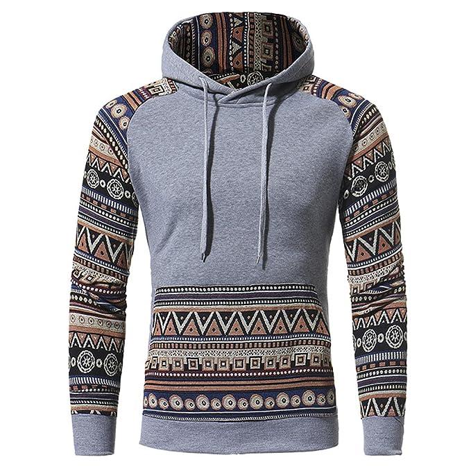 Sudaderas con Capucha Para Hombres Pullover Juvenile Slim Fit Fashion Etnico Estilo Mens Casual Hooded Sweatshirts: Amazon.es: Ropa y accesorios