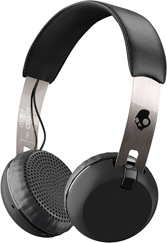 Skullcandy Grind Bluetooth Wireless On-Ear Headphones with Built-In Mic and Remote