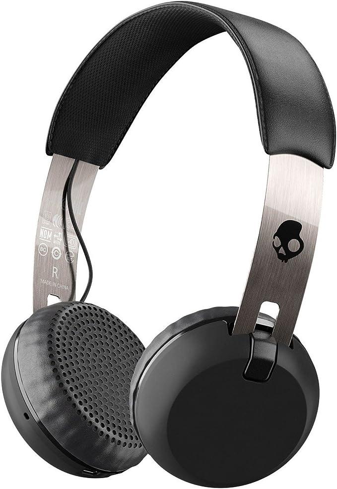 Auriculares de diadema Skullcandy Grind Wireless, negro/cromo ...