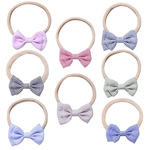 d2bc7ef07e1e7 Baby Girl Nylon Headbands Newborn Infant Toddler Hairbands and Bows Child  Hair Accessories
