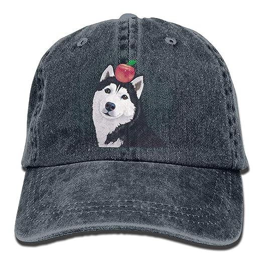 Husky Apple Denim Baseball Caps Hat Adjustable Sport Strap Cap at ... d5748f8fb0e