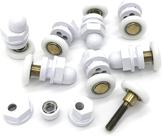 8 ruedas giratorias de repuesto para puerta de ducha, 27 mm ...