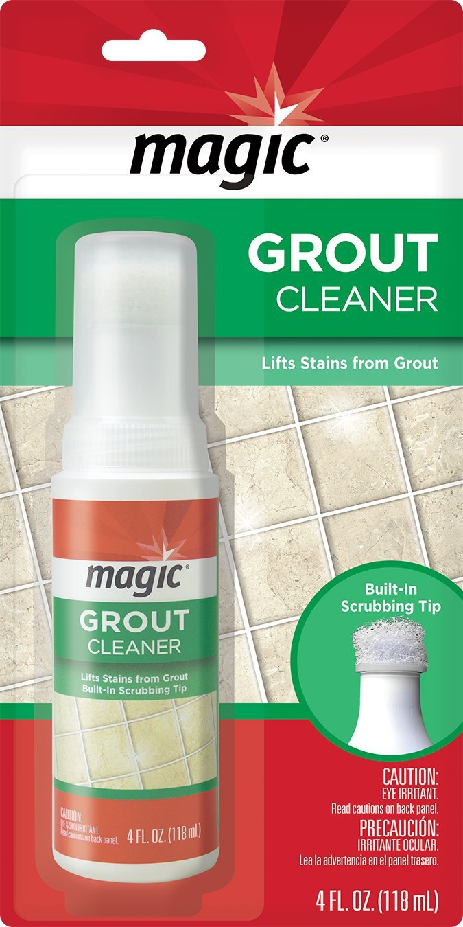 Amazon.com: Magic Grout Cleaner with Scrubber Tip - Lifts Stains from Grout Lines Without Hard Scrubbing - 4 Fl. Oz.: Home & Kitchen